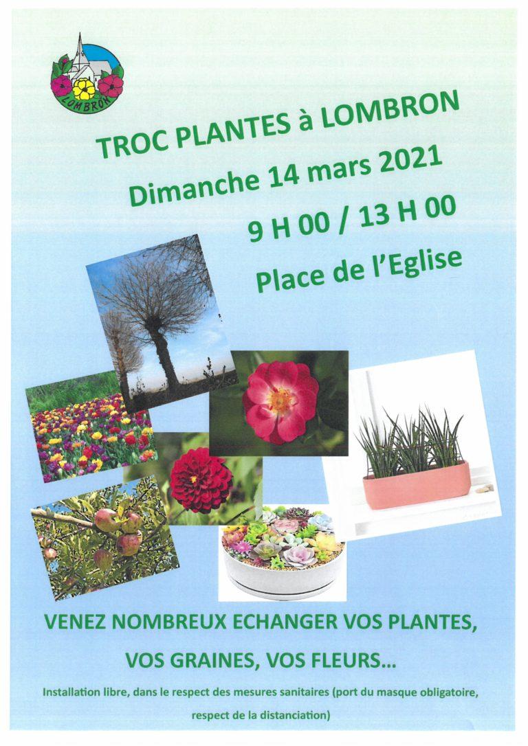 Troc plantes à Lombron le 14 mars 2021