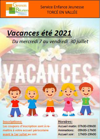 Vacances jeunes été 2021