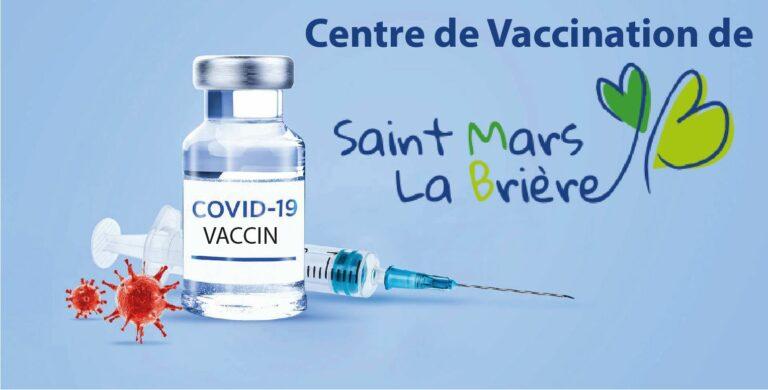 Rappel centre de vaccination de Saint Mars la Brière