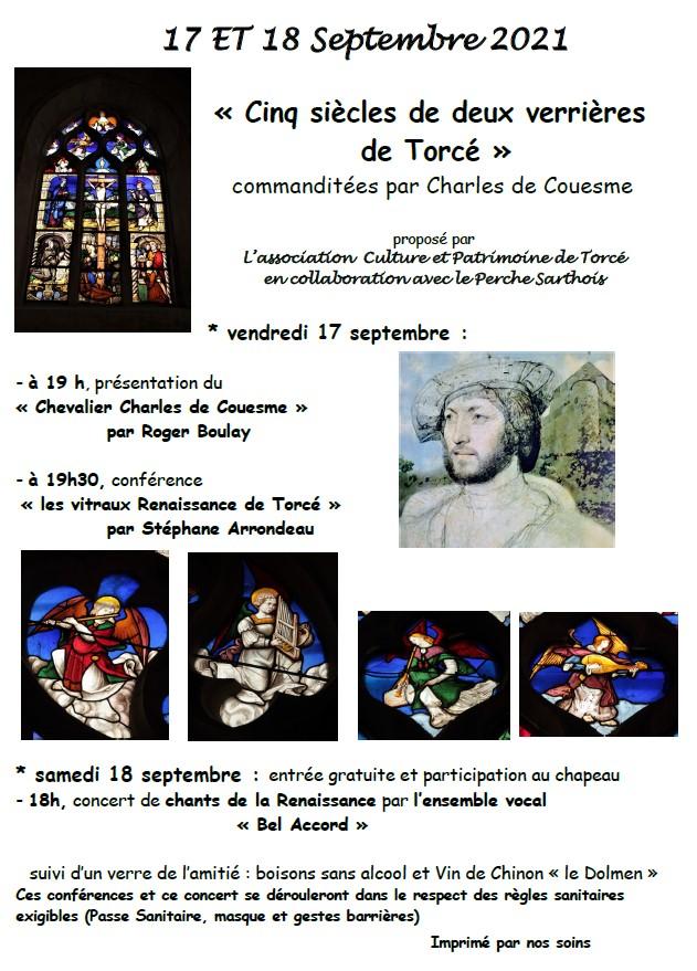 Animations Culture et patrimoine de Torcé 17 et 18 septembre